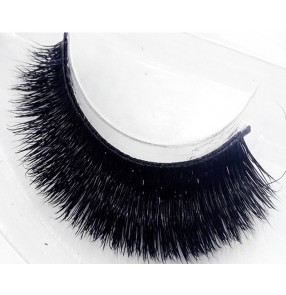 1 pair Latin ballroom dance thick false eyelashes for women mink hair handmade eyelashes natural black stem false eyelashes
