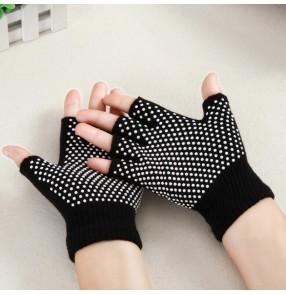 1 pair Yoga gloves half finger non-slip yoga fitness exercises sports gloves wear-resistant cotton open-toe yoga gloves