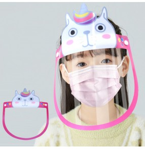 10PCS Anti-spray saliva direct splash anti-fog face shield for kids cartoon full face cover isolation protective mask for children