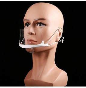 10pcs Chef Transparent masks food hygiene plastic kitchen restaurant anti-spit against droplet mouth cover