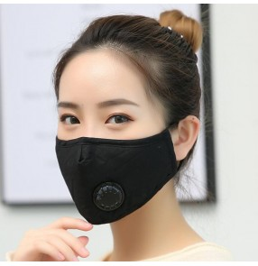 10pcs Reusable anti-spitting facemask dust proof PM2.5 cotton activated carbon face mask with 2pcs carbon filter for women and men