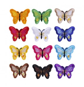 10pcs Wholesale butterfly embroidery cloth stickers Garment hat decoration accessories embrodered clothing patch