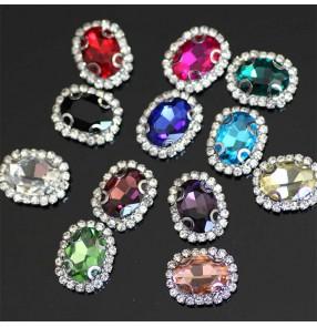 1pc 15x18mm hand-sewn diamond DIY necklace headdress bag sashes crystal buckle clothing jewelry accessories hair accessories wedding gem accessories