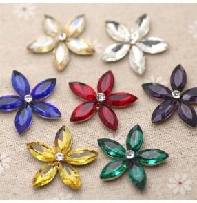 1PC Horse eye alloy flower Rhinestones gem DIY bridal clothing accessories shoe flower diy jewelry shoe material clothing accessories hand-sewn flower diamond ornament