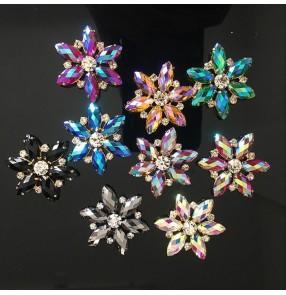 1PC Star Shaped Rhinestone Hand Sewn DIY Cloth Sticker Diamond button Hand-sewn DIY hat Socks bags Dress jewelry decoration accessories