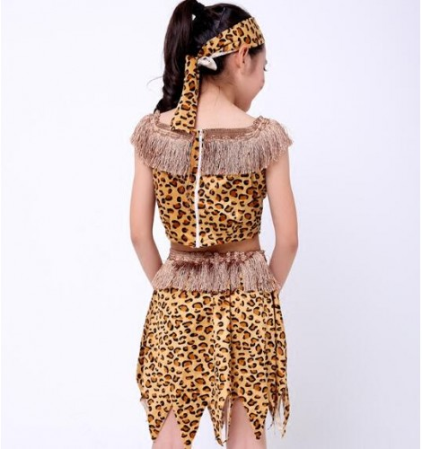 Leopard Printed Sexy Girls Boys Kid Children Indian