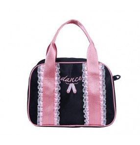 Light pink black girls baby kids children princess cute single shoulder crossbody water proof canvas ballet dance garment duffle bags
