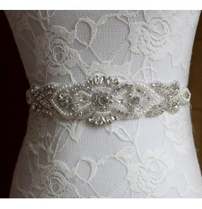 Multi colored blue black wine silver white ivory women's evening wedding party bridal crystal dress waist band sashes