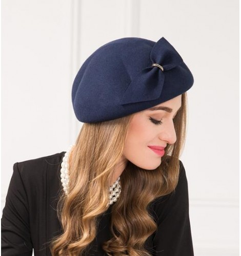 e360d87c3 Navy blue fashion bowknot England style women's wedding evening party  bridals event handmade 100% top hats fedoras