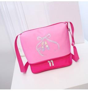 Pointe Shoes Paillette Decor Girls baby Pink Ballet Bag Children Cute Waterproof Canvas Dance Bags Cross body ballet kids