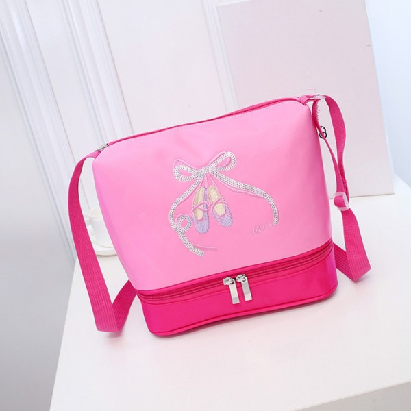 faaff67d6 Pointe Shoes Paillette Decor Girls baby Pink Ballet Bag Children Cute ...