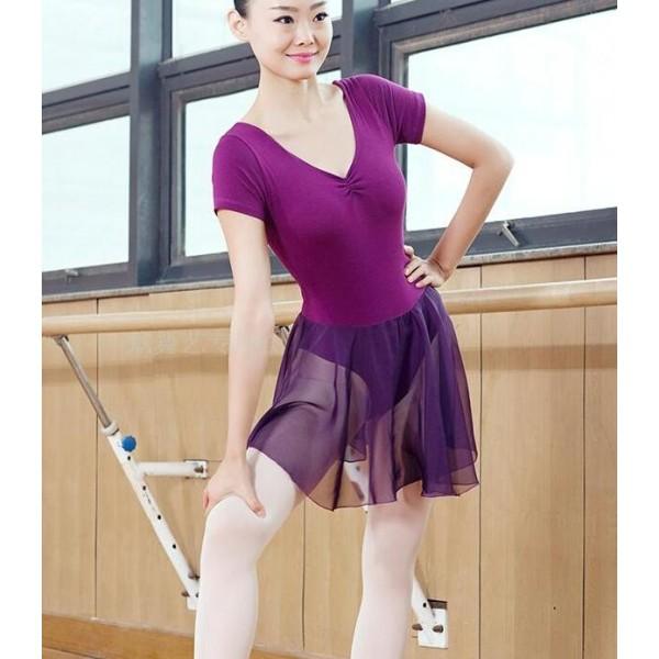 4e8ac2e26 Purple violet black short sleeves women s ladies competition ...