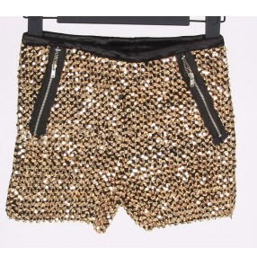 Sequins short length hot dance sexy fashion women girls night club singer bar stage performance cos play shorts