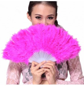 White black fuchsia red yellow royal blue turquoise feather women's girls sexy fashion  belly dancing fans veils accessories