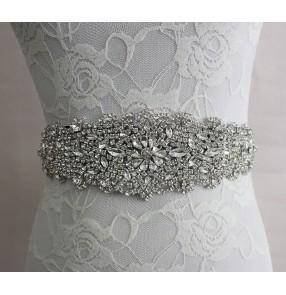 White ivory purple dark green crystal bow knot rhinestones ribbon women's wedding bridals evening dresses waist band sashes belt