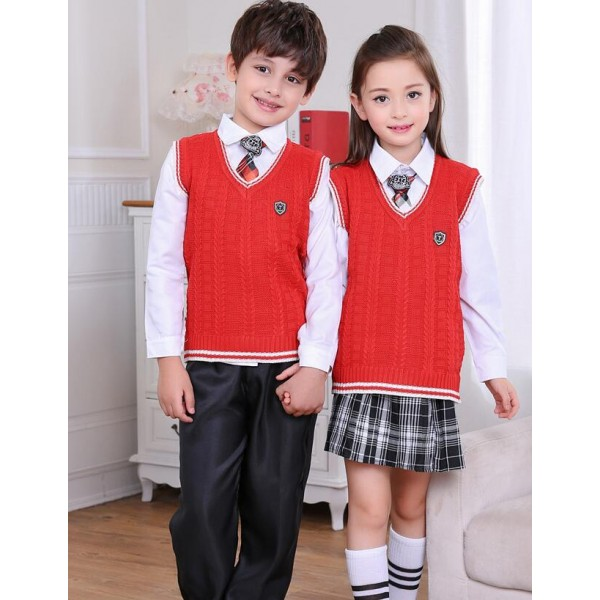 White red navy blue England style girls kids children boys ...