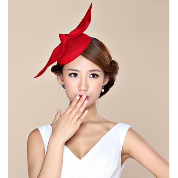 6061f6791916e Womens Lady Vintage Fascinator 100% Wool Hair Pillbox Hat Bowknot Veil Felt  Cocktail Party Wedding Socialite