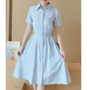 denim jeans material patchwork   sexy fashion girls women's Korean style dresses