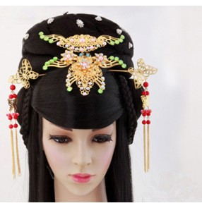 Women 's han dynasty hair wig chinese drama film ancient princess wig ancient chinese hair cosplay long black hair wigs