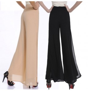 New Fashion Women's Summer Thin Chiffon Pants Female Wide Leg Pants High Waist Casual Dance Pants Trousers