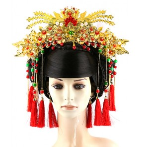 Empress Queeen princess fairy cosplay wig empress hair tang empress wig chinese ancient  folk dance wig tang dynasty hair