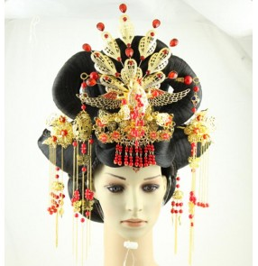 Chinese fairy wig Express queen ancient princess wig tang dynasty hair accessories for women ancient dynasty cosplay photo studio hair