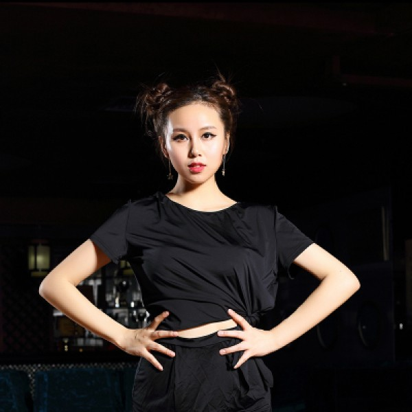 5d9f8918284 New sexy black violet Ballroom Modern Latin dance clothes tops for women  female girl dancerwear performance wear