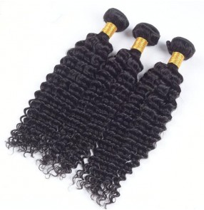 "Malaysian Afican Kinky Curly Hair Bundles Remy 100% Human Hair Bundles 10""-28""Double Weft Hair Extension 1PC Hair Weave Can be dyed"