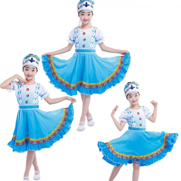 6e360d419 Classical Children traditional Drama cosplay Russian costume Chinese  costumes for kids dance children girls national for boys china dress