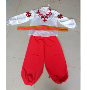 Red Boys European palace traditional russian costume chinese costumes for kids dance children girls national for boys china dress