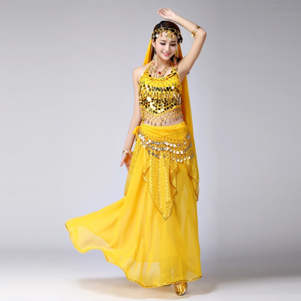 9b1ab30e8f36f Sexy Red yellow Egypt Belly Dance Costume Bollywood Costume Indian Dress  Bellydance Dress Womens Belly Dancing Costume