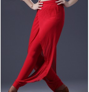 High Grade Latin dance Pants ballroom  Dance Pants Practice Performance Dancewear Stage Competition Dancing Trousers