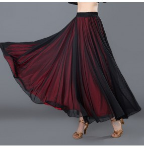 black AND red Modern Dance costumes flamenco skirts ballroom skirts latin salsa flamenco ballroom dance dress skirt dance wear