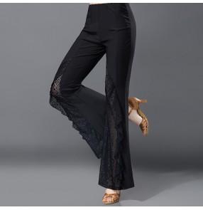Ballroom dance costume sexy senior spandex ballroom dance pants for women ballroom dance competition trousers