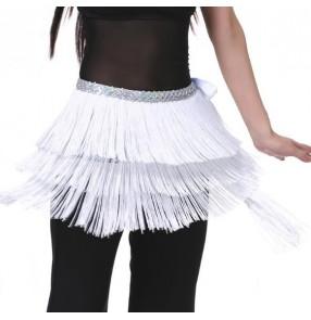 Belly Dance Belt for Women Waistband 3 Layers Tassel Belly Dance Hip Scarf Skirt Scarf Wrap Performance Dance Clothing