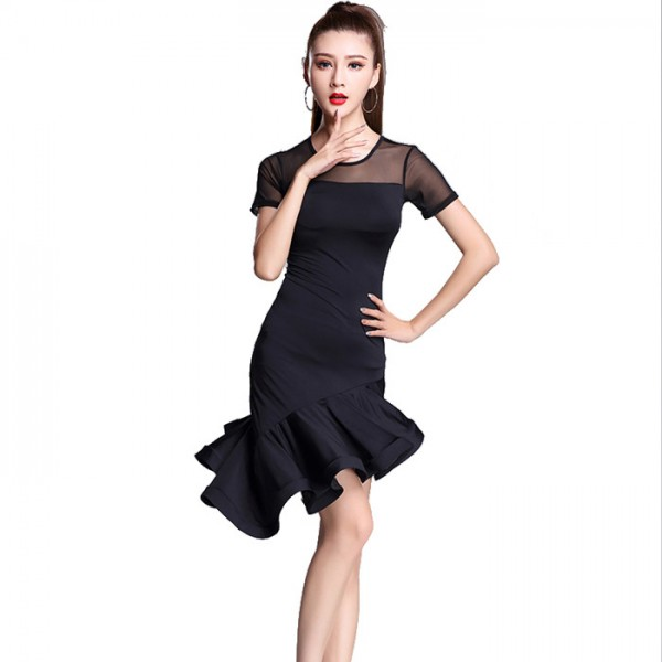 Black latin dance dress women tango dress salsa rumba modern dance ...