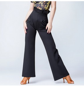 Black Loose Pantalones Women latin dance Long Trousers Pants Wide Leg Trousers pants