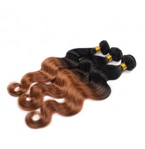 Brazilian Body Wave Hair Weave Bundles 1pc Remy Hair 100% Human Hair Bundles 10-28 Inch Ombre hair dark root Natural Color
