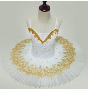 Child Plate Professional Ballet Tutu Skirt  Practice Rehearsal Ballet Half Tutu Dress Opera Pancake Tutus dresses