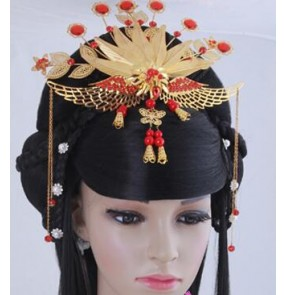 classic women hair ancient chinese Queen princess fairy cosplay wigs for women ancient dynasty hair han dynasty cosplay