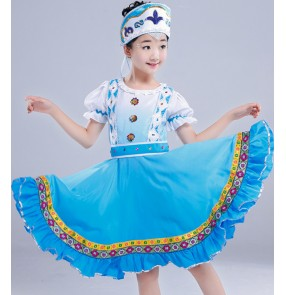 Classical Children traditional Drama cosplay Russian costume Chinese costumes for kids dance children girls national for boys china dress