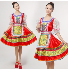 Classical traditional russian dance costume dress European princess stage drama cosplay dance dresses Stage performance clothing