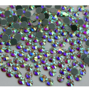 Colorful colored glitter High quality flat back with glue hot fix DIY rhinestones  dance dresses shoes bag accesories 4MM 1440PCS