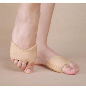 Flesh nude professional cheap women's girls belly dance ballet gymnastics practice toe pad half sole thong socks shoes