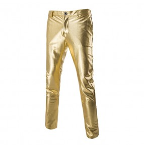 Gold silver black glitter Jazz Dance Costume Loose Women and Men  jazz singers dj  performance dance trousers pants