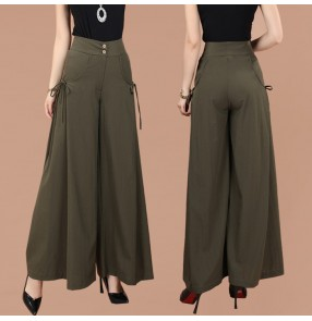 Korean Large Fashion Loose Wide Leg Pants Women Waist Casual Pants Large Swing Culottes high Waist Trousers pants