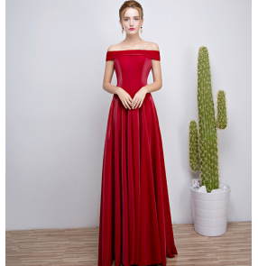 Robe De Soiree Mermaid wine red Long Evening Dress Party Elegant Vestido De Festa Long Prom Gown