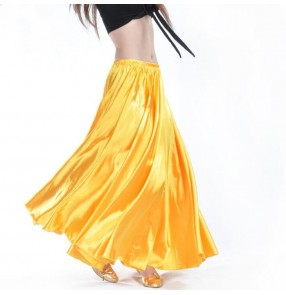 Wholesale Satin Belly Dance Skirt for Women Cheap Belly Dancing Costume Gypsy Skirts