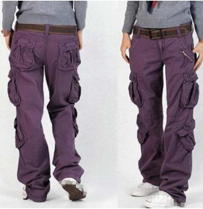 Women Cargo Pants Cotton Trousers Loose Plus Size Ladies Harem Hip Hop Army Pants Women Wide Leg Casual Pants