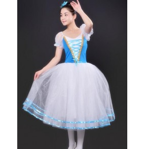 New Girls modern dance Blue white Pancake Tutus Dance Costumes Kids Swan Lake Dancewear Children Professional Platter Tutu Ballet Dress